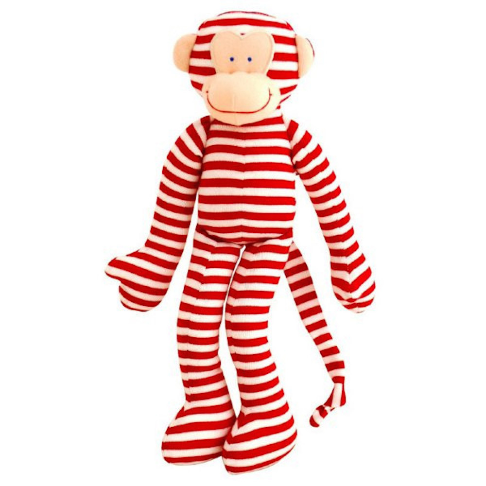red monkey alimrose rattle toy