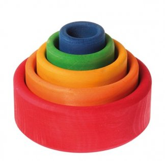 grimms rainbow stacking bowls