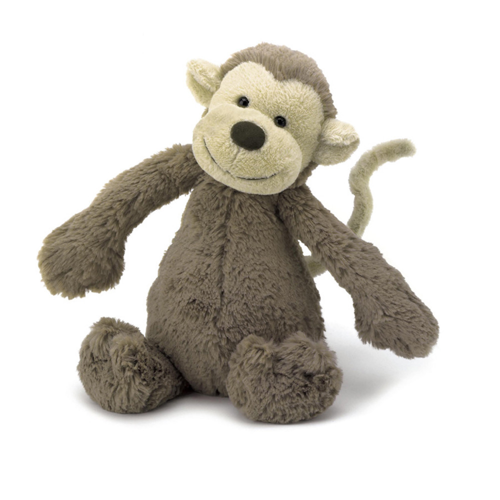 bashful monkey face jellycat