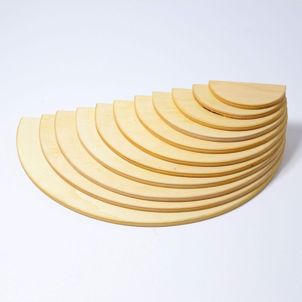 Grimms semi circles natural wood