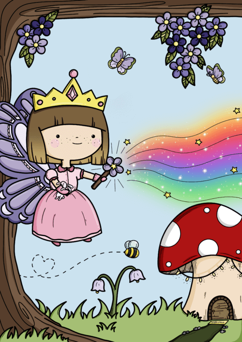 Fairy princess by phoebe steel art