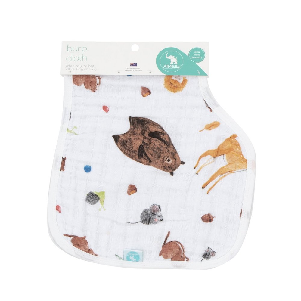 burp cloth forest