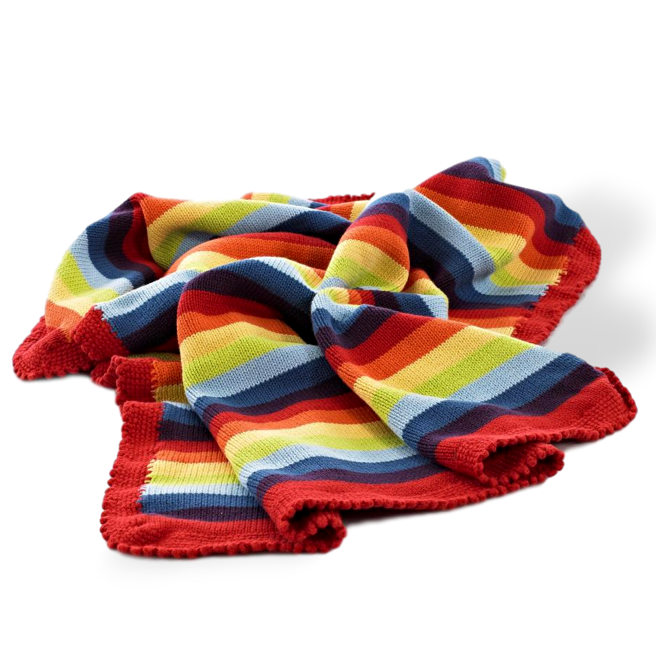rainbow stripe pebble blanket