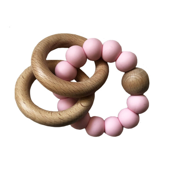 rosewater wooden teether alimrose
