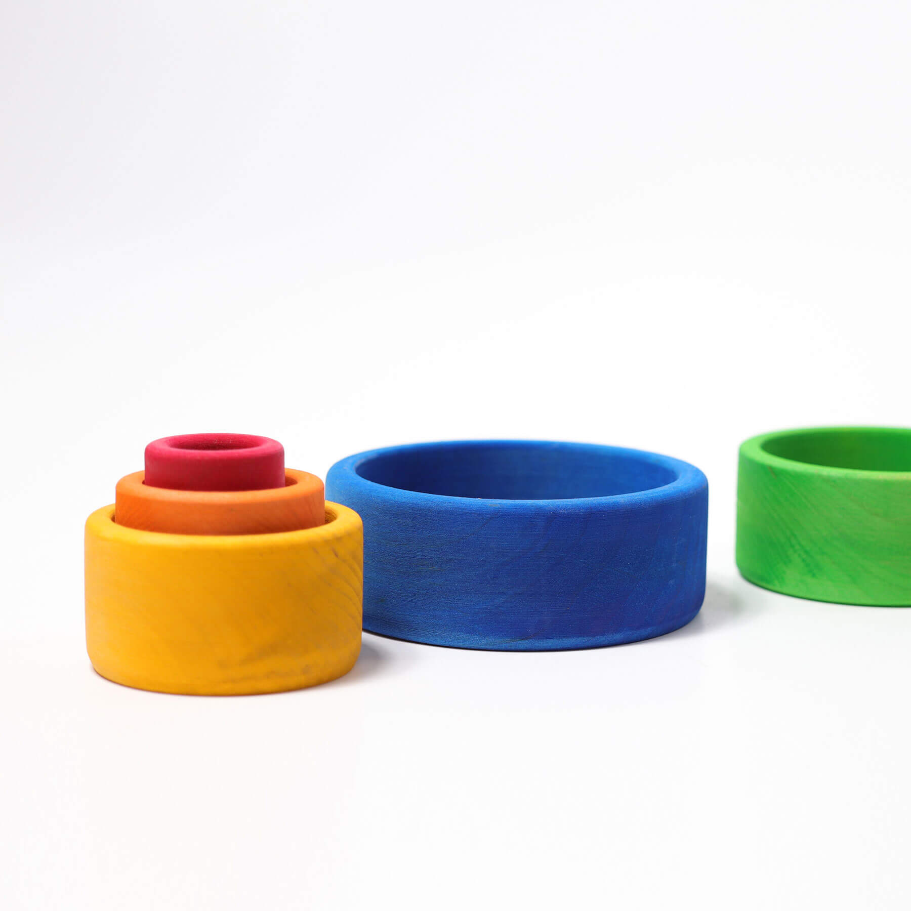 Grimms stacking bowls blue