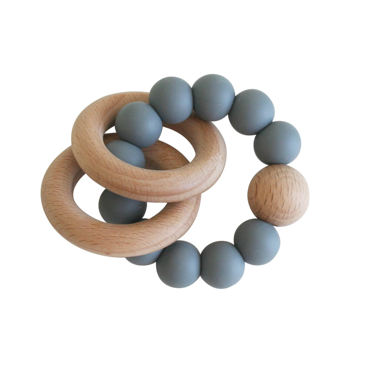 stormgrey wooden teether alimrose