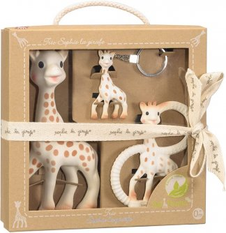 trio set of sophie the giraffe