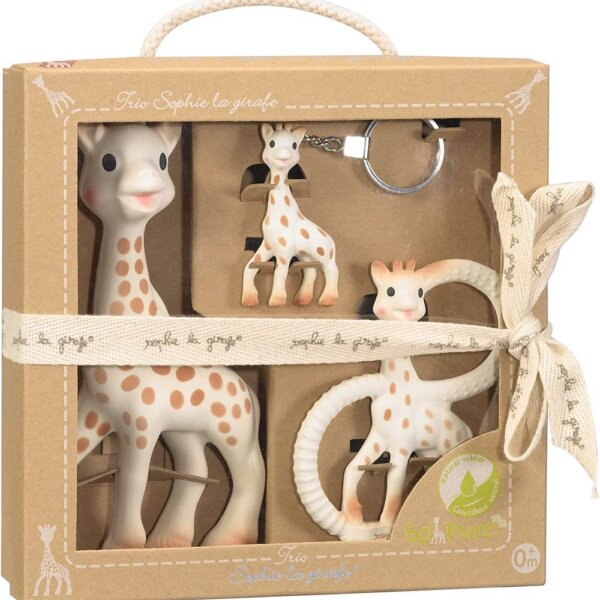 trio set of sophie the giraffe