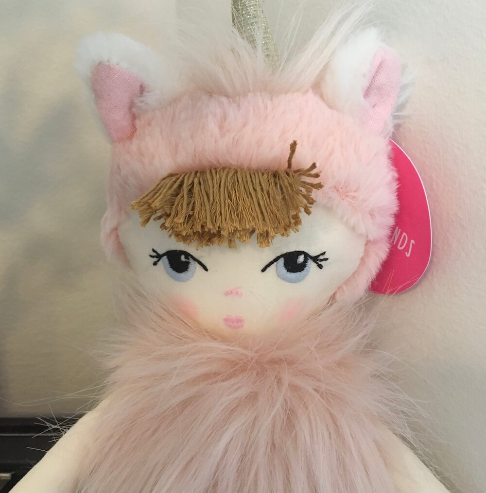 unicorn doll close up