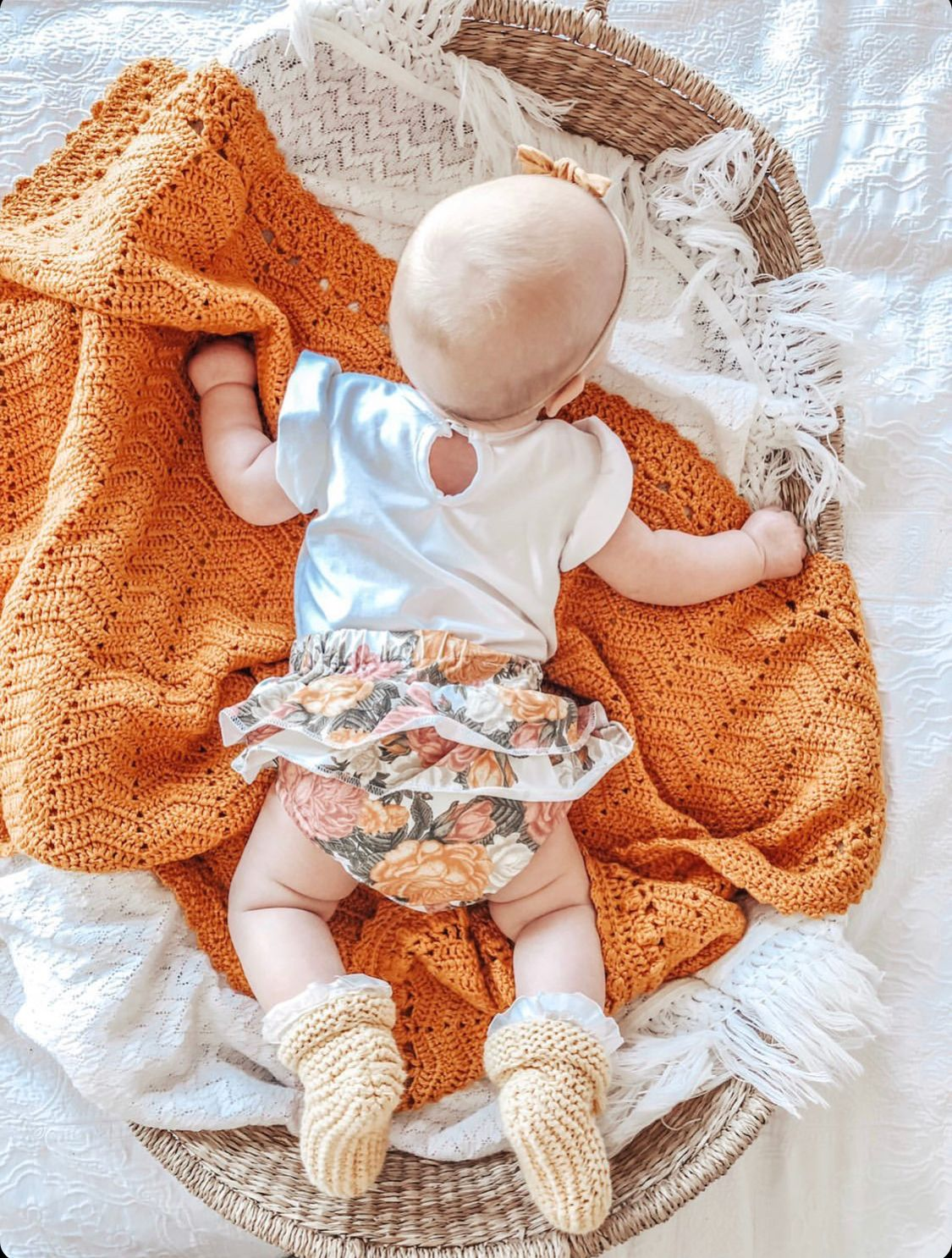 baby on turmeric ob designs blanket