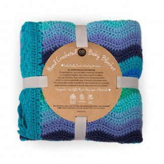 sky ripple crochet baby blanket ob designs