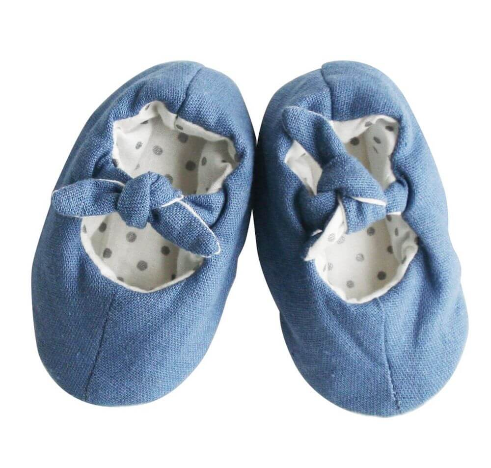 bobby baby chambray slippers