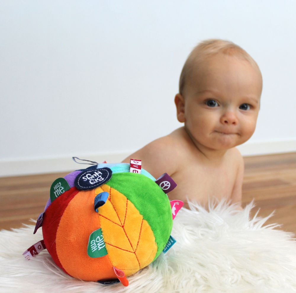 ob designs rainbow sensory toy ball