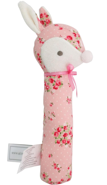 pink floral deer squeaker alimrose