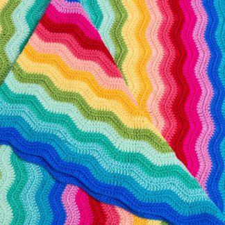 rainbow crochet blanket ob designs