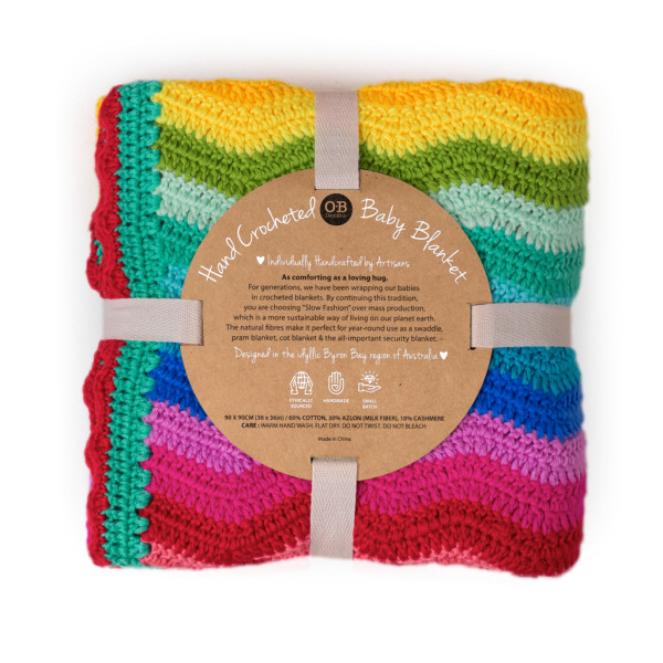 rainbow ripple blanket ob designs