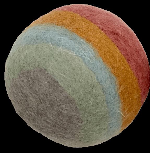 papoose 12cm felt rainbow ball