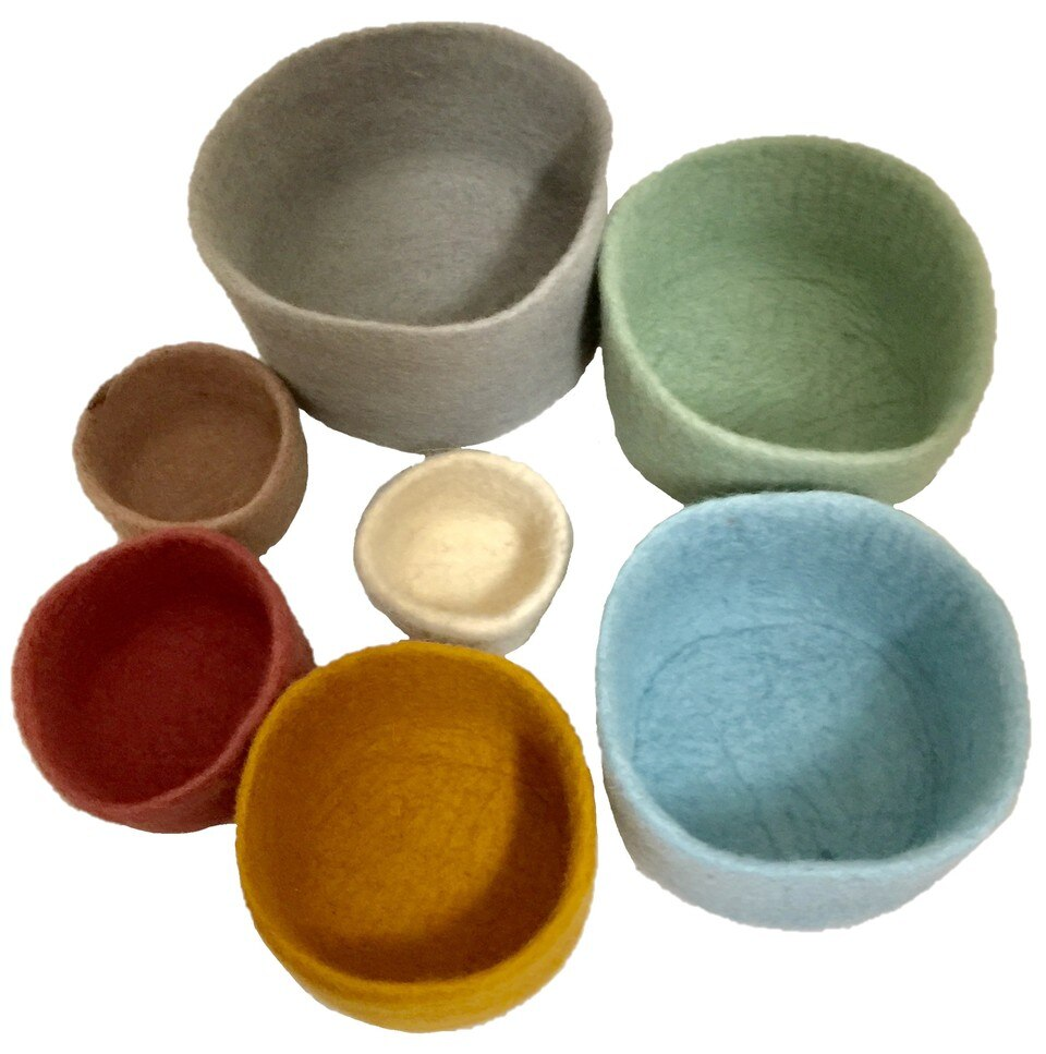 papoose felt earth nesting bowls2