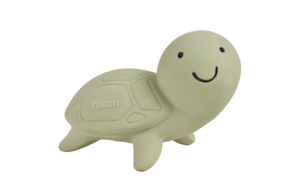 tikiri happy turtle rubber teether