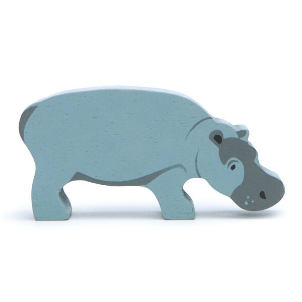 hippo tender leaf toys wooden animal