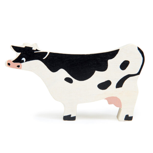 black and white cow tenderleaf toys
