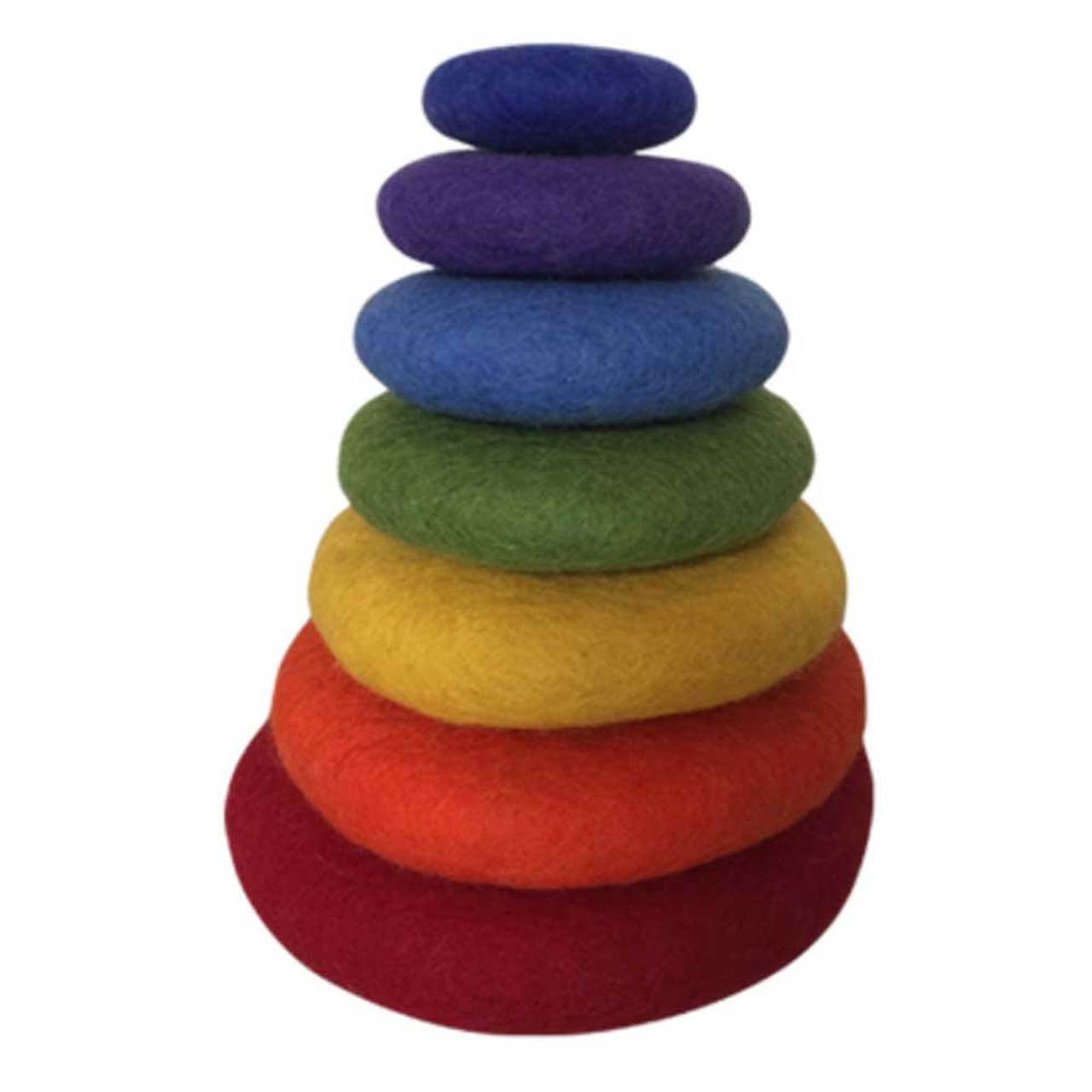 papoose felt stacking rainbow 7pc