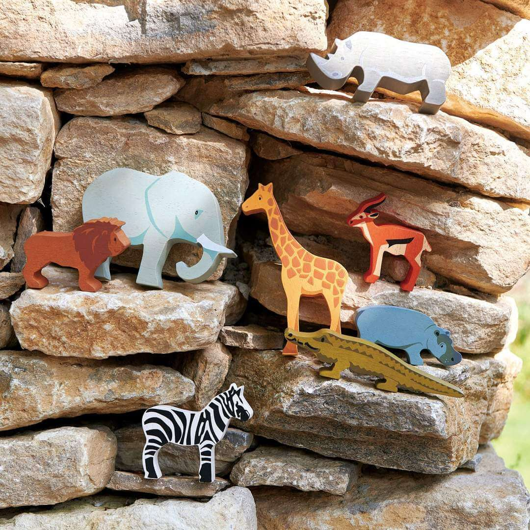 safari in the brick wall tenderleaf toys