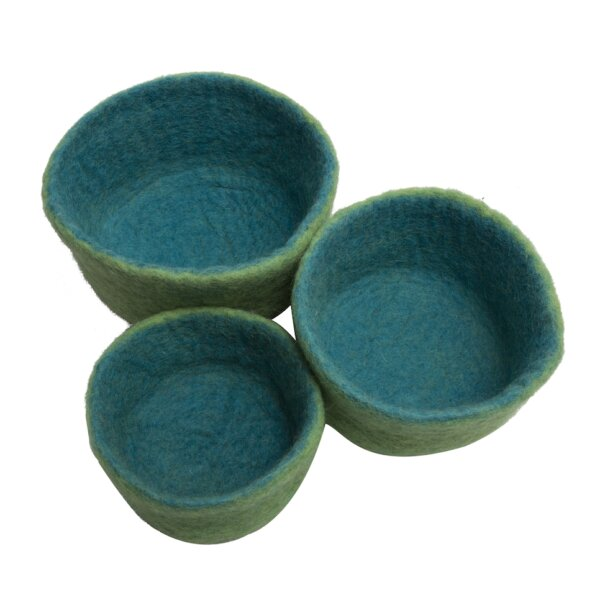 papoose blue nesting bowls