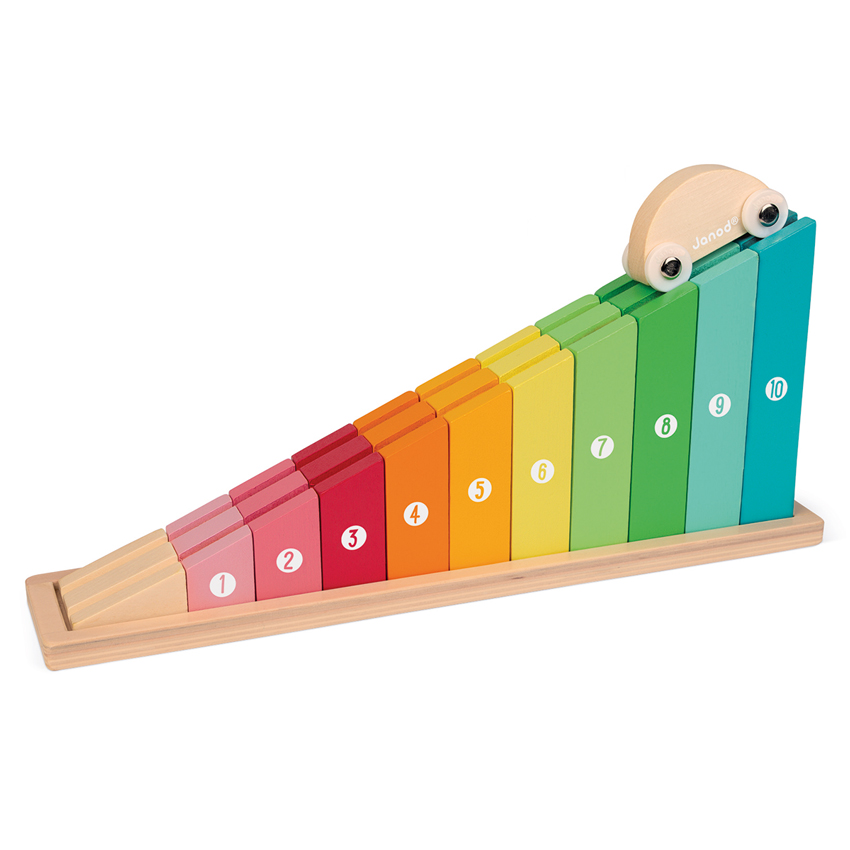 car in counting rainbow track stem learning janod