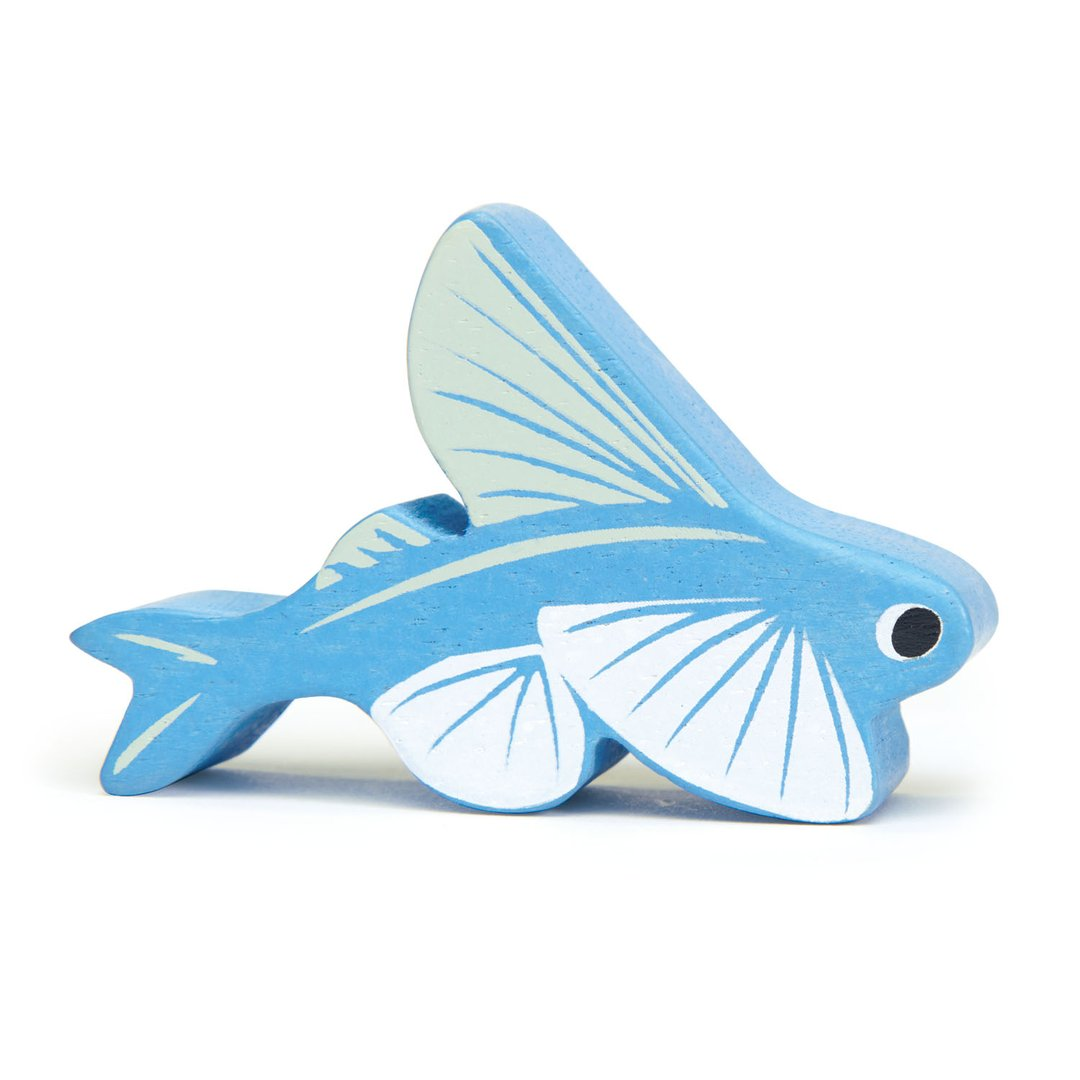 flying fish coastal creatures tender leaf wooden animals