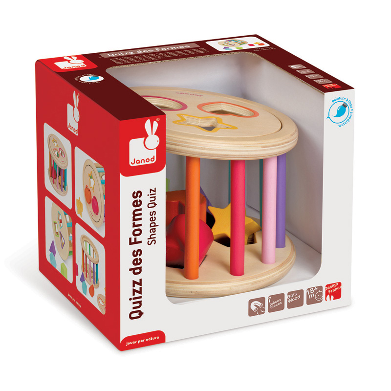 janod shapes rolling rattle