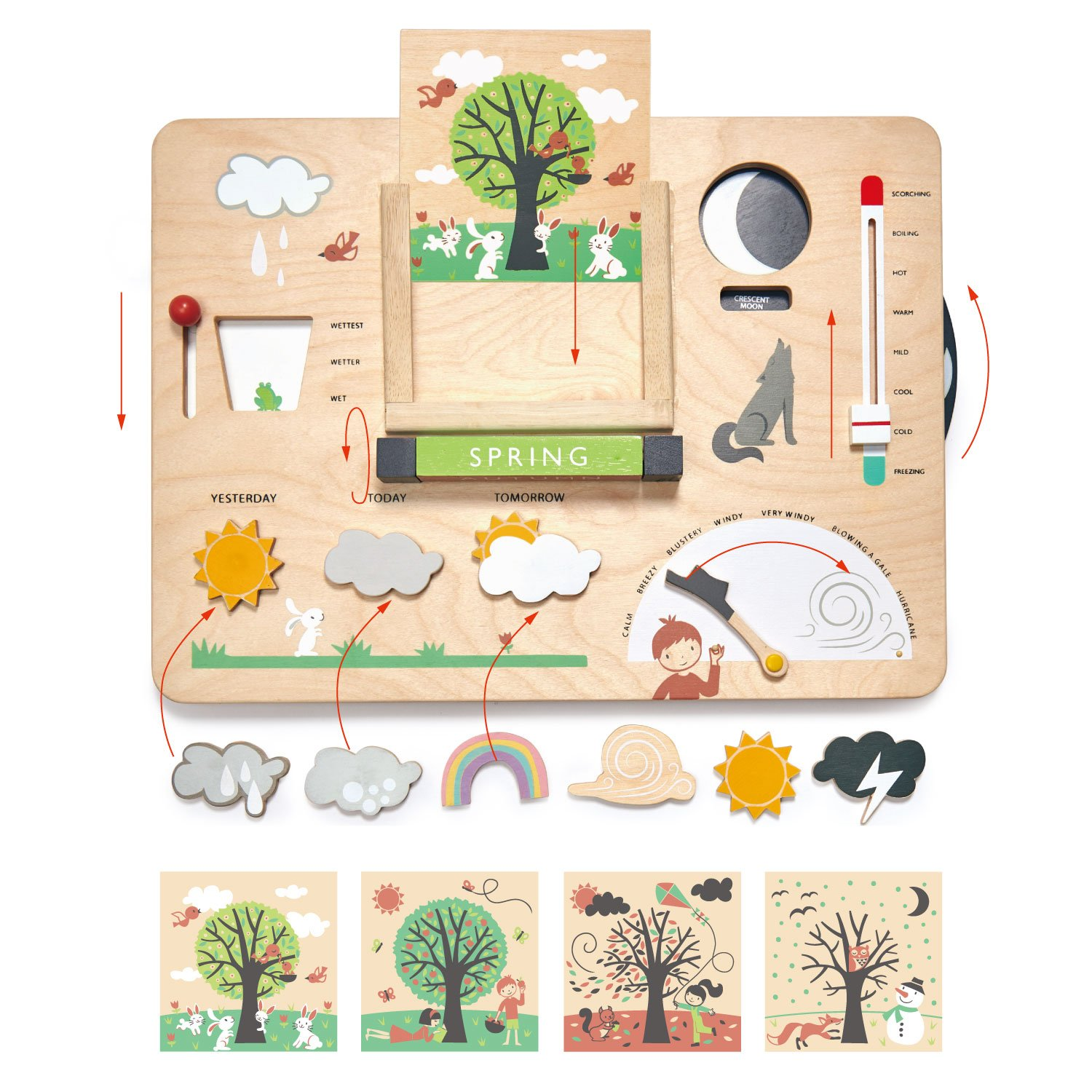 learning about seasons with weather station tender leaf toys