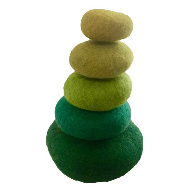 papoose-green-stacking-felt wool