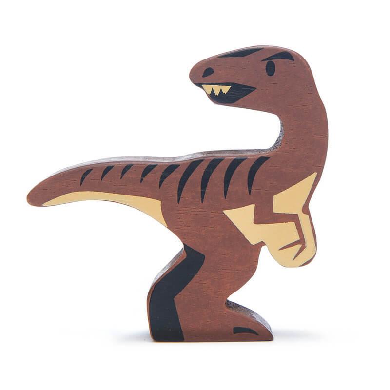 tender leaf wooden animals dinosaur velociraptor