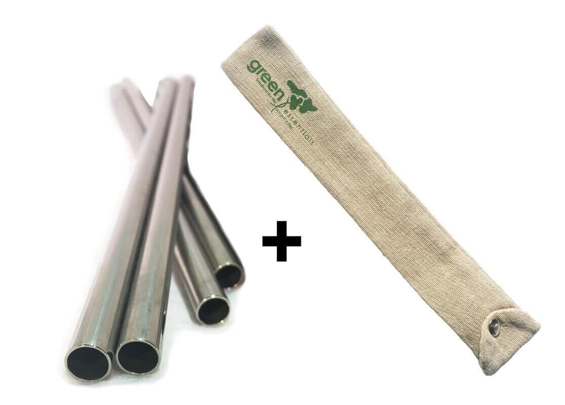 4 straws and holder