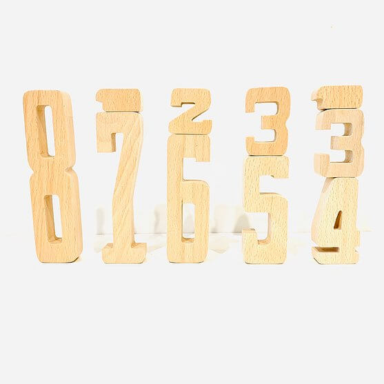 by astrup danish educational wooden numbers