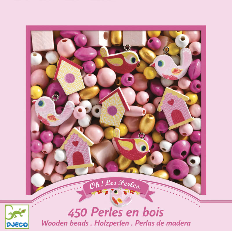 birds by djeco wooden beads