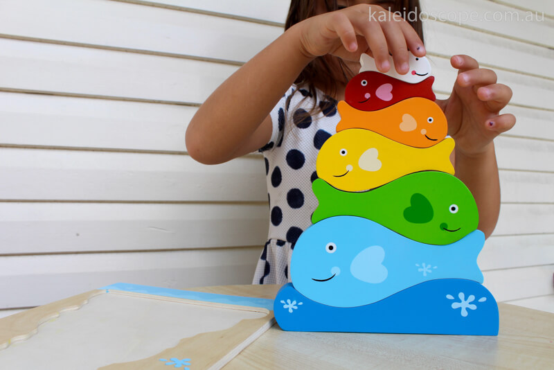 chunky fish puzzle and stacking