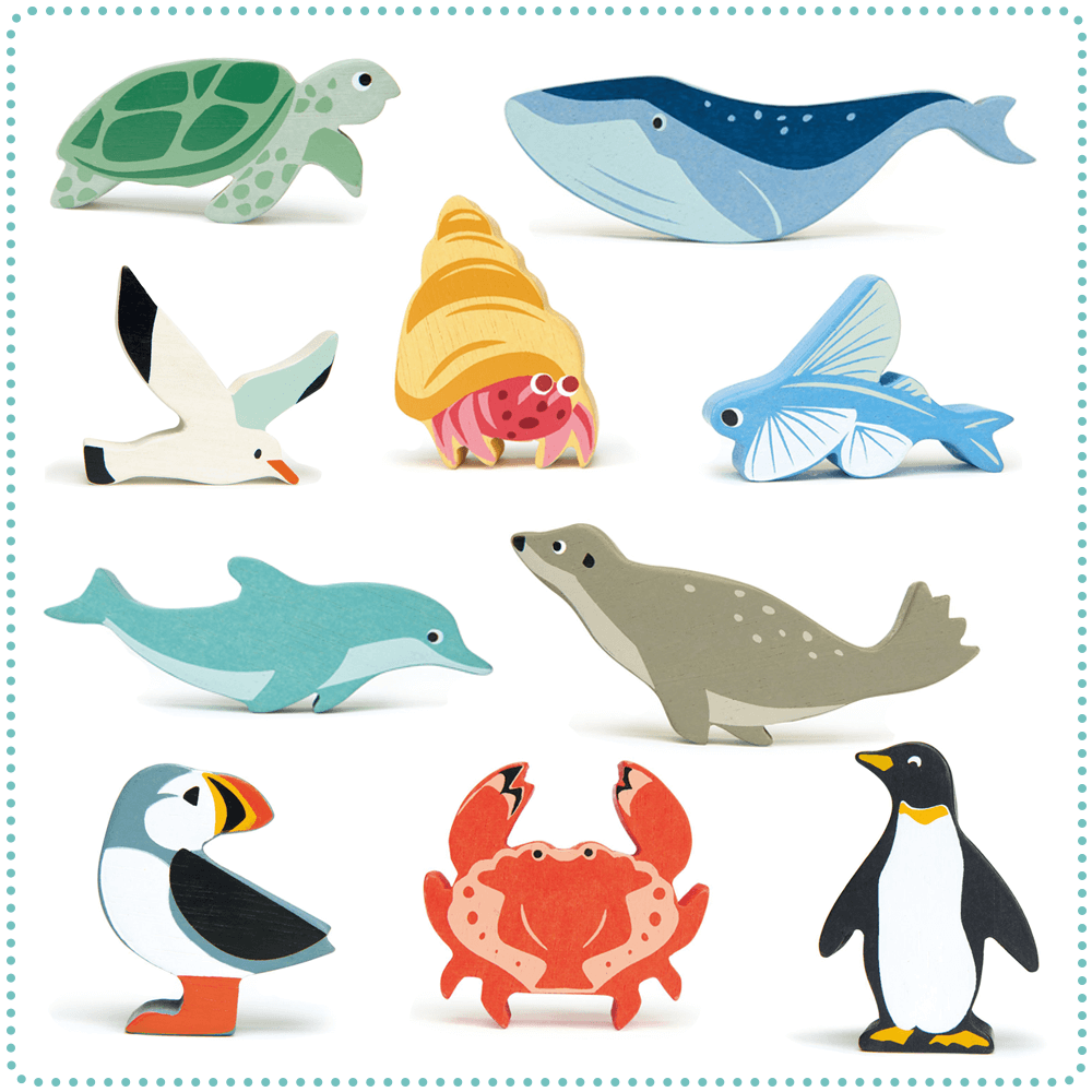 tender leaf toys ocean creatures set of 10