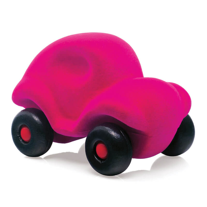 rubbabu pink car eco sensory toy
