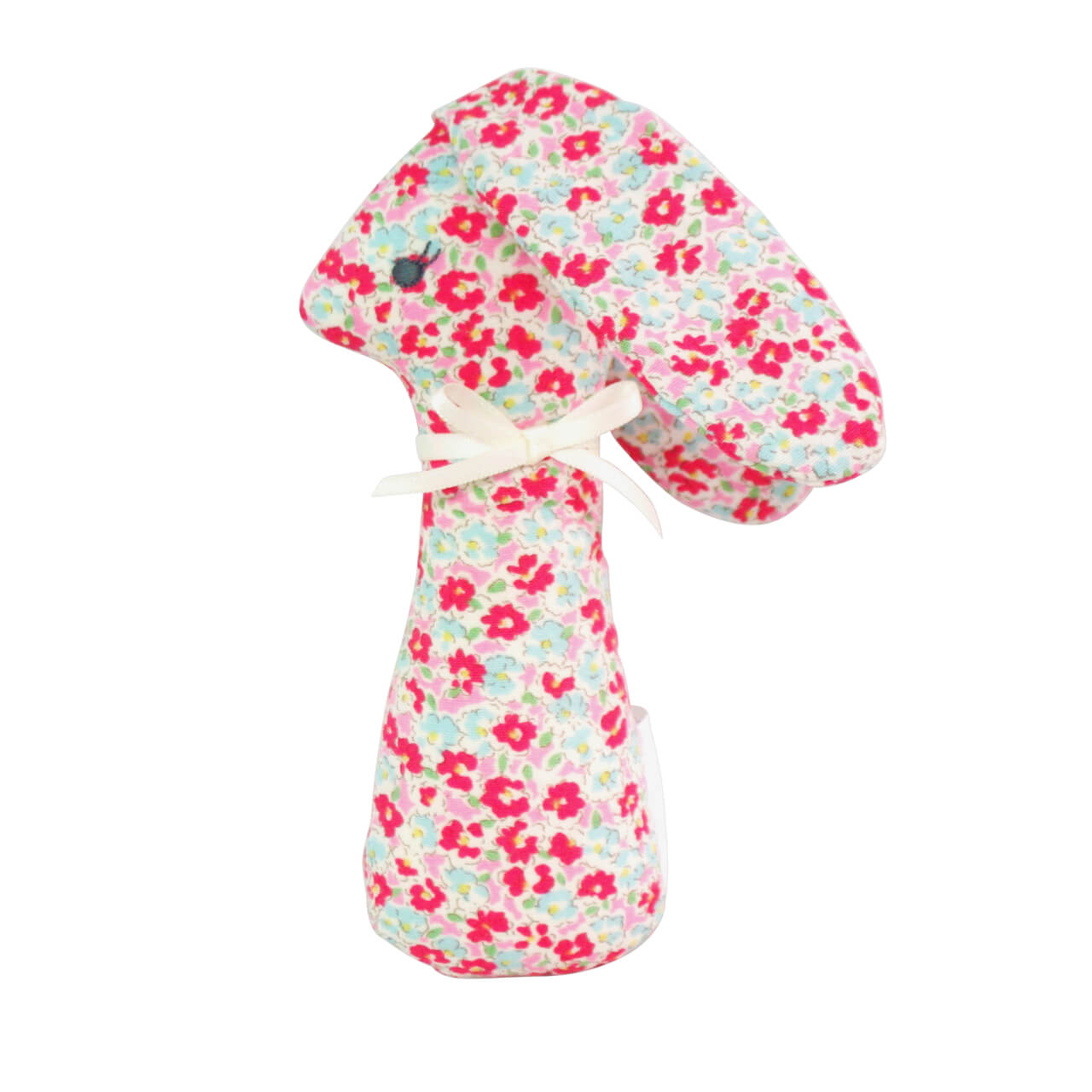 sweet floral bunny rattle alimrose