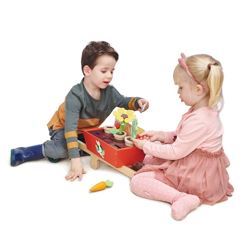 tender leaf toys wheel barrow and garde1