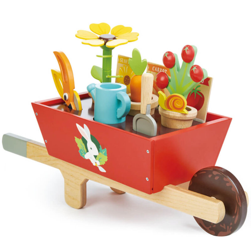 tender leaf toys wheel barrow and garden
