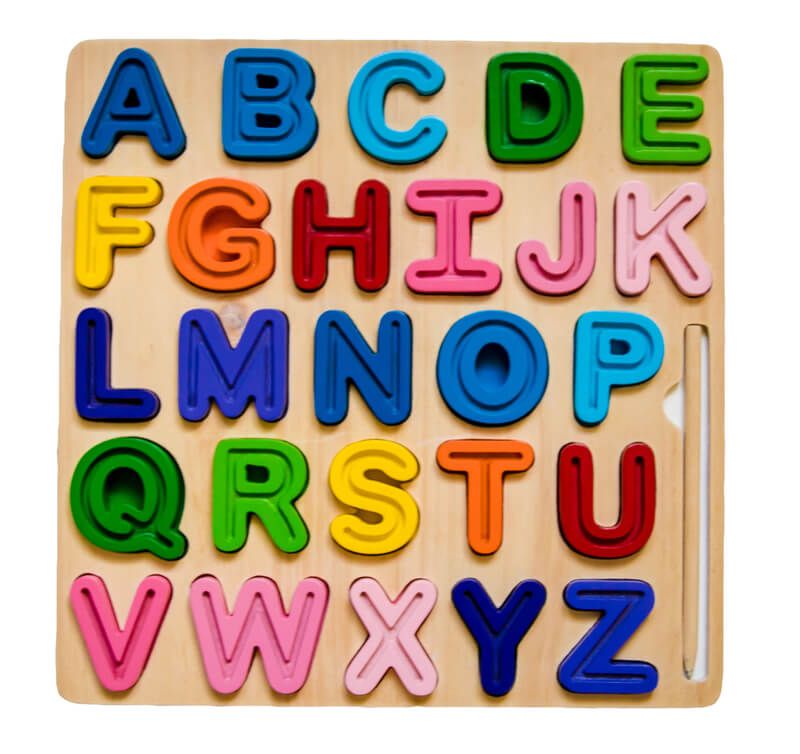 alphabet home learning tracing letters