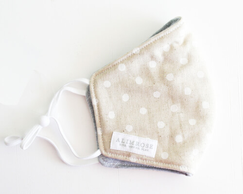 ivory linen with white spot alimrose face mask