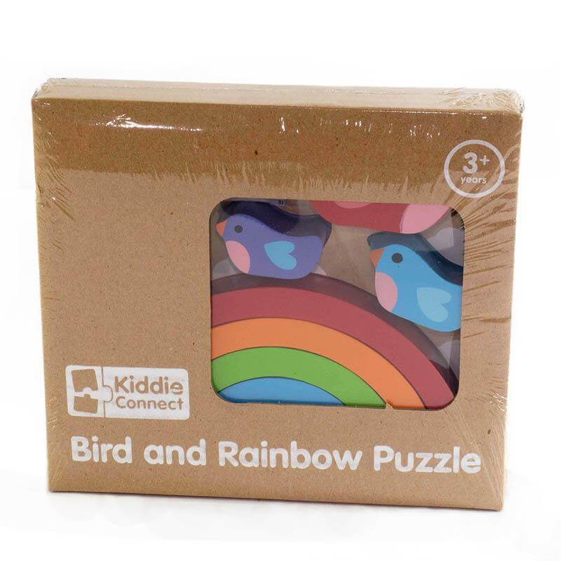 bird and rainbow puzzle in box