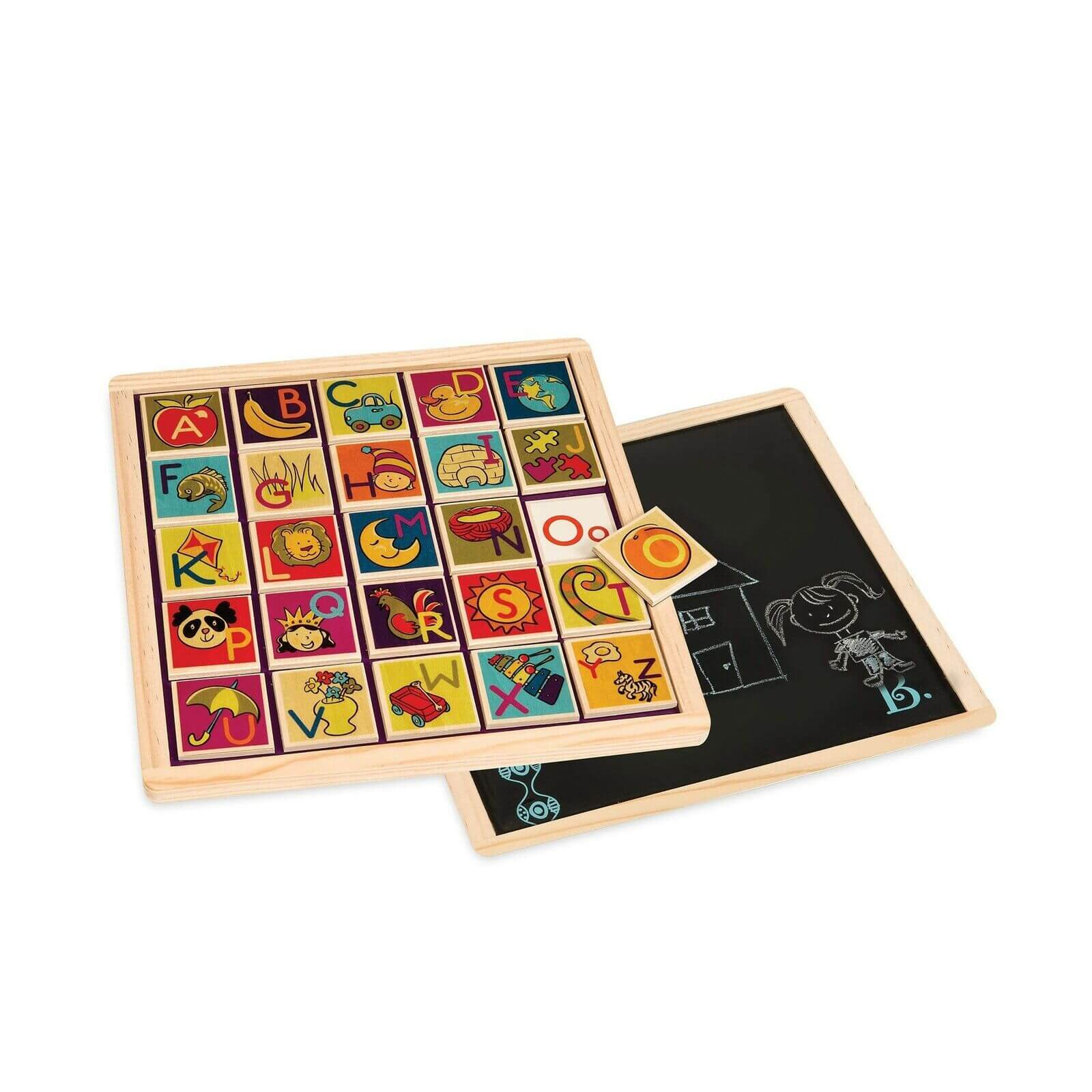 double sided alphabet magnetic bdot