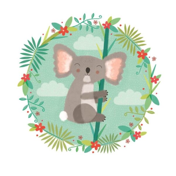 koala sledge illustrations card