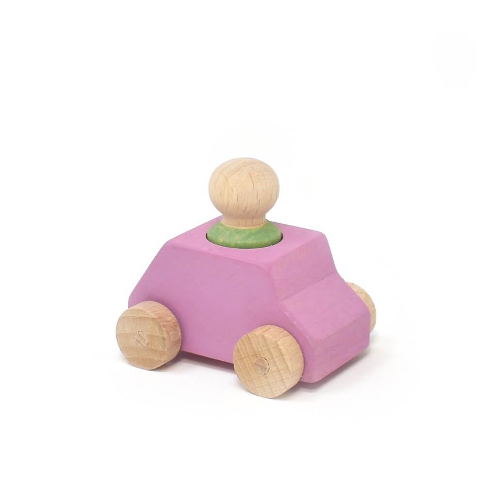pink car green person lubulona