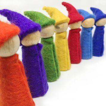 rainbow gnomes felt papoose